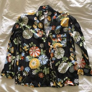 Levi's Floral Pajama Style Button Top